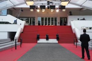 La famosa alfombra roja de Cannes: 24 escalones y 60 metros. (Janina Pérez Arias)