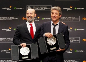 Ricardo Darín junto a Javier Cámara en San Sebastián (Janina Pérez Arias)